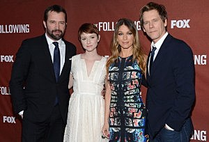 James Purefoy, Valorie Curry, Natalie Zea and Kevin Bacon of Fox's The Following