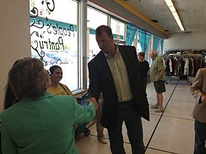 Congressman Jon Runyan stops by the People's Pantry