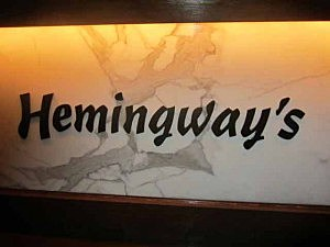 Sign inside Hemingway's restaurant in Seaside Heights