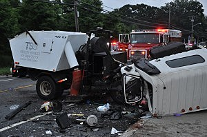 Street Sweeper and Jeep in Toms River head-on crash (Toms River PD)
