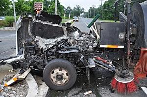 Remnants of vehicles in head-on crash in Toms River (Toms River Police Dept.)