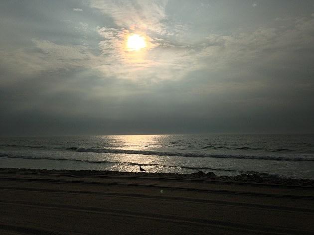 Sunrise over the boardwark