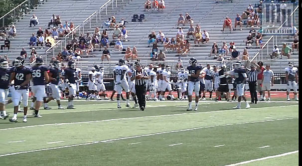 Monmouth University Hawks at practice