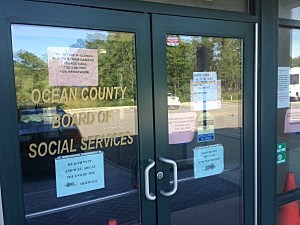 Systems are down, signs are up until further notice at the Southern Ocean County Service Center in Manahawkin (Jason Allentoff, Townsquare Media)