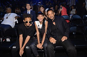 (L-R) Jayden Smith, Willow Smith and Will Smith attend the 2013 MTV Video Music Awards