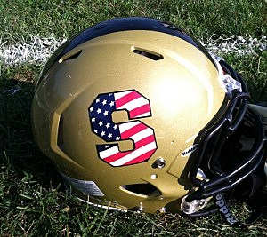 Southern's special 9/11 helmet decal