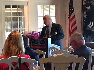 Benjamin Spinelli speaks at the Ocean County Mayor's Association meeting