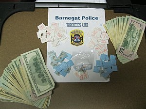 Items recovered by Barnegat Police during arrest