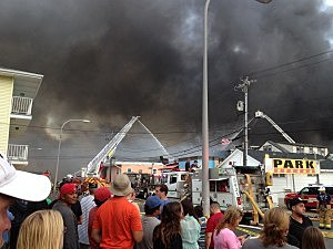 Boardwalk fire in Seaside Heights