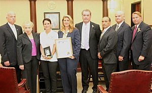 "Monmouth County Freeholders joined by Sheriff Shaun Gould in proclaiming September as ""Go Gold Month"""
