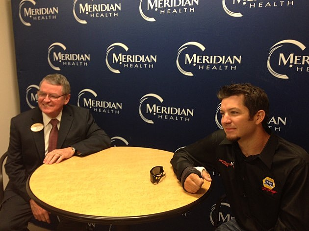 Southern Ocean Medical Center Joe Coyle (L) and Martin Truex Jr.