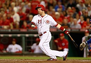 Todd Frazier #21 of the Cincinnati Reds