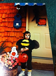 Kevin's daughter son as a bumblebee