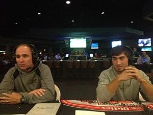 Head coach Charlie Diskin and Matt Gudzak of Toms River East