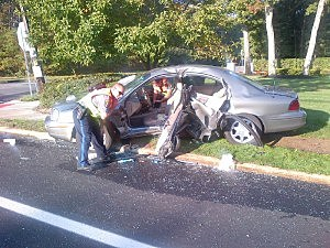 Car Driven by 79-Year-Old Seriously Injured in Toms River today (Toms River PD)