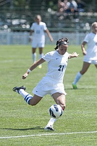Dana Costello of Jackson playing for the Monmouth University women's soccer team