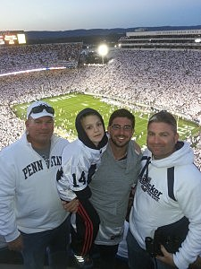Kevin, his brother and nephew at the Penn State game