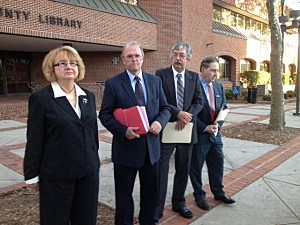 (L-R) – Linda Stevens, Former Mayor Paul Brush, Gary L. Clifton and Eli Eytan, all running as Democrats for the Toms River Township Council.