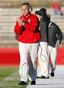 Head coach Kyle Flood of the Rutgers Scarlet Knights