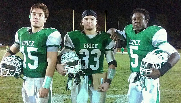 Brick's Carmen Sclafani, Ray Fattaruso, and Ja'Quez Johnson