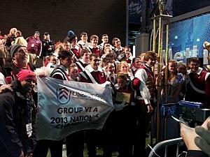Jackson Memorial High School Jaguars Display National Trophy (Darlene Barney)