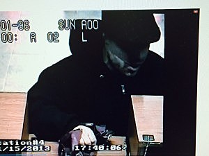 Santander Bank Surveillance Image during November 15 Robbery (Brick Township PD