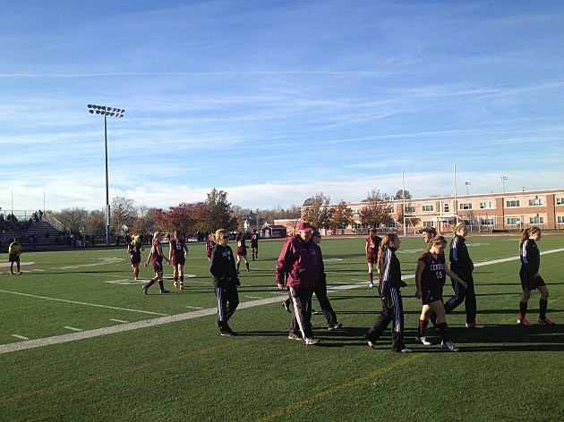 Ed Graichen on the sidelines of the Toms River South-Central boys soccer game