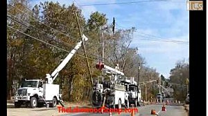 JCP&L crews work in Lakewood after Superstorm Sandy.