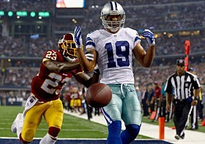 Miles Austin #19 of the Dallas Cowboys