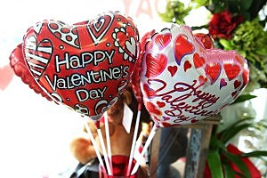 Valentine's Day ballons