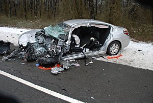 Car driven by John Jones of Manchester in Tuesday crash on Route 70 (Manchester Police Dept.)