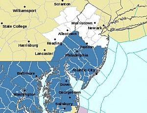 NWS NJ Map