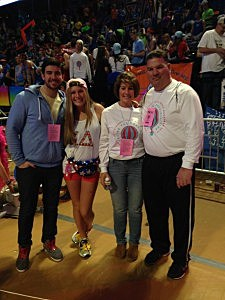 (L-R) Brandon, Alex, Jane and Kevin Williams at THON