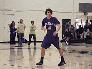 St. Rose senior Matt Skea scored the game-winning basket in the Purple Roses' SCT win over Brick Memorial.