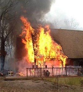 Fire on Clinton Avenue in Toms River