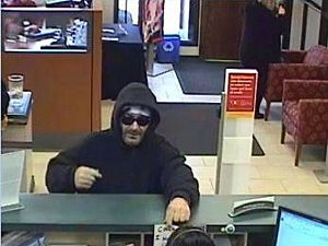 Surveillance photo of suspect in robbery of Wells Fargo Bank in Jackson.