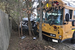 School Bus Crash at Toms River High School North (Toms River PD)