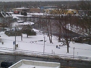 Huddy Park in Toms River after Monday's snow
