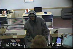Surveillance video of Santander Bank robbery suspect
