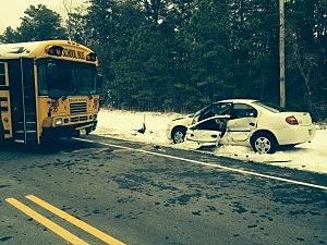 Crash near Manchester Township High School (Manchester PD)
