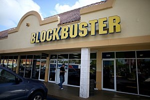A Blockbuster video store