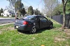 Scene of Crash on Cedar Grove Road (Toms River PD)