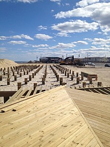 Boardwalk under construction in Seaside Heights