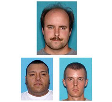 (Clockwise Top) Dennis Hubert, Michael Garon and Antonio Hidrogo (Ocean County Prosecutor's Office)