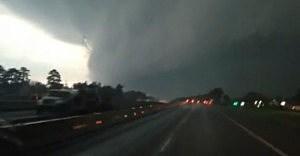 Tornado in Mayflower, Arkansas