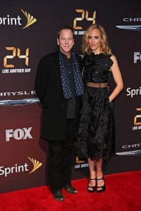 "Kiefer Sutherland and Kim Raver attend the ""24: Live Another Day"" World Premiere"