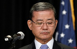 U.S. Secretary of Veterans Affairs Eric Shinseki