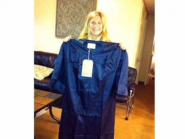 Kevin's daughter Alex and her graduation gown
