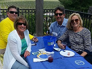 Kevin and his wife Jane with friends Joe and Darlene.