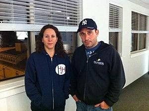 Jennifer Barna and Mike Schwartz of Hometown Heroes